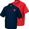 Short Sleeve Button Down Wingshooter Double Front Pockets Auburn