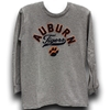 LS Gray Heather Auburn Arch over Tigers Pawprint