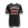 Jersey Look Stripe Sleeves Auburn Bar Tee