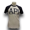 Ash & Navy API Heathered Tee