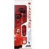 JVC Sport Gumy Headphones, Red & Black