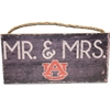 Mr. & Mrs. AU Wooden Sign