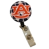 AU Navy and White Fabric Reel Badge