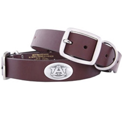 Pet Collar, AU Concho Brown Leather-XL