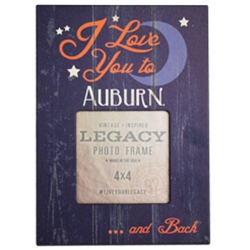 "Love You to Auburn and Back Picture Frame, 9""X7"""