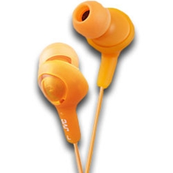 JVC GUMY PLUS EARPHONES ORANGE