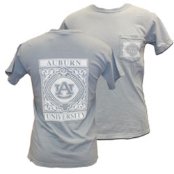 Auburn University Tigers Square with Fun Design Comfort Colors Tee