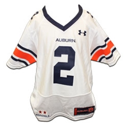 #2 White Youth Football Jersey