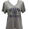 Auburn Seal Heathered Vneck Tee