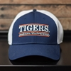 Navy and White Mesh Tigers Bar Design Hat