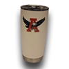 Auburn Eagle Through A White Tumbler