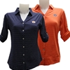 Ladies Cutter & Buck Button Stripe Polo