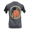 American Flag in State Tee