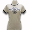 Ladies Auburn Arch Faux Seal Ringer Tee