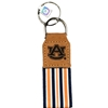 Keychain, Concho Leather Striped