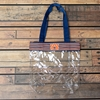 Auburn Clear Zipper Stripe Fabric Tote