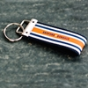 Power Stripe Canvas Key Fob