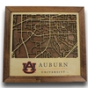 Framed AU Campus Map