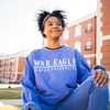 Periwinkle Comfort Colors War Eagle Bard Design Sweatshirt