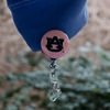 AU Pink Retractable ID Holder