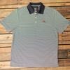 Auburn Leaping Tiger Mens Striped Polo