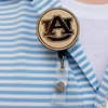 AU Wooden Retractable ID Holder