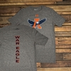 Eagle Thru A Vertical War Eagle Under Armour Tee
