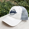 Auburn Retro Circle White Cap