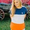 Samford + Donahue Women's Piko Tricolor Top
