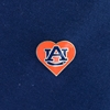 AU Heart Lapel Pin