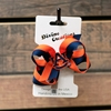 AU Striped Mini Bow