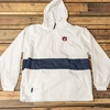 AU 1/2 Zip Navy Stripe Water Resistant Jacket