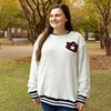 SS AU LC CHENILLE LETTERS STRIPE SLEEVES