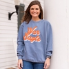 SS CC WAR EAGLE PSYCHEDELIC SCRIPT SCREENPRINT COMFORT COLORS SWEATSHIRT MV SPORT