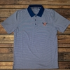 Eagle Through A Tonal Stripe Polo