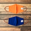 Navy and Orange 2-Pack Face Masks