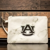 AU Marble Zippered Wristlet Pouch