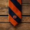 AU Navy & Orange Stripe Tie