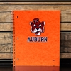 Auburn 3 Subject Orange Beanie Head Wirebound Notebook