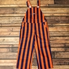 Youth Navy & Orange Striped Overalls
