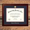 Honors Mahogany Gold Medallion Frame