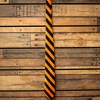 Navy and Orange Spirit Tie