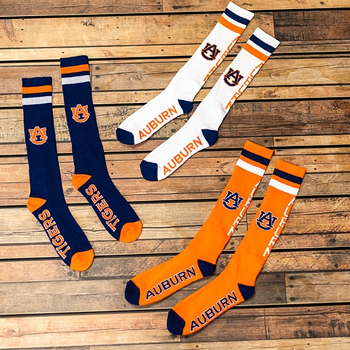Orange//White Donegal Bay NCAA Auburn Tigers Tube Socks One Size