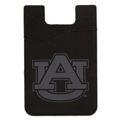 Black Cell phone Silicone ID Holder