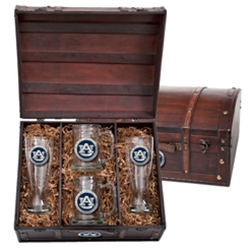 Beer Steins and Pilsners Set with Chest