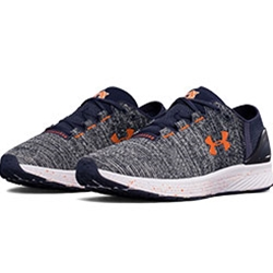 SHOES UA WOMENS AUBURN BANDIT MIDNIGHT NAVY WHITE ORANGE UNDER ARMOUR 28dd226c8