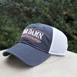 White Mesh War Damn Bar Design Cap