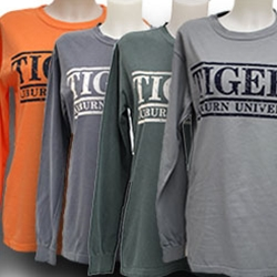 Comfort Colors Long Sleeve Tigers / Auburn University Distressed Tee