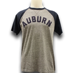 League Auburn Arch Baseball Tee
