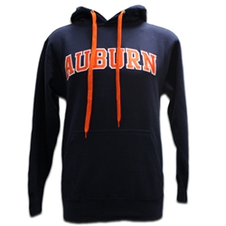 Auburn Arch Twill Hoodie with Orange Laces
